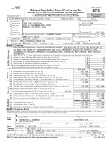 thumbnail of Form 990 2013
