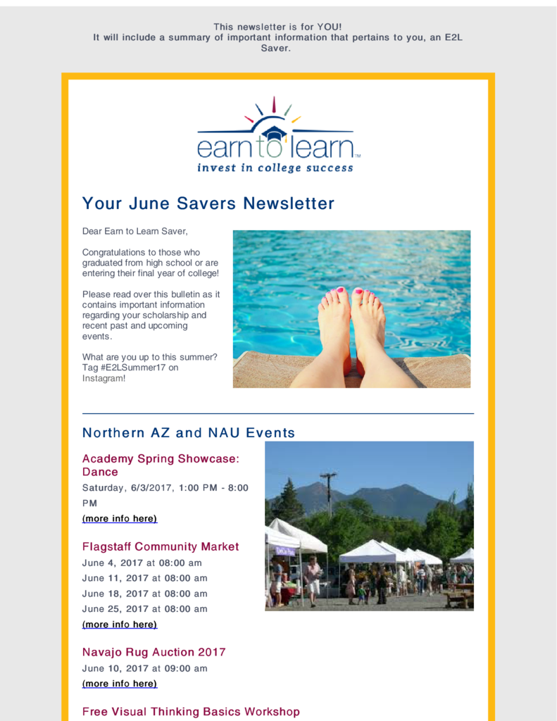 savers newsletters earn to learn